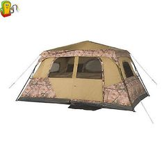 Ozark Trail 13' X 9' Instant Cabin Tent With Realtree Xtra Camo 8 Person Shelter