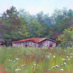 North Carolina Country Landscape, painting by artist Karen Margulis