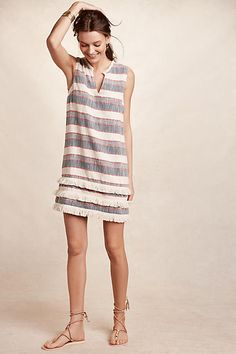 Fringe-Stripe Shift, Anthropologie