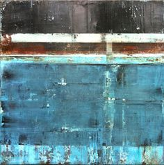 Pentimento, 36 x 36, encaustic, cloth, oils on panel, © 2013 Stephanie Dalton/Dalton Projects