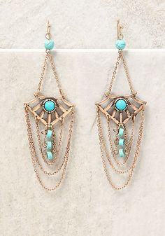 Gold Layered Chain Chandelier Earrings