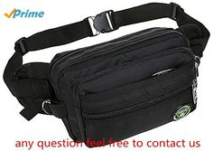 IJEA Fanny Packs Waist Bag Hip Pack,Large Size with Large Capacity,Waterproof and Wear-Resistant Nylon Fabric,for Men Women Travel or Running Walking Daily Leisure for Men Women Travel or Running Walking Daily Leisure Dark Gray
