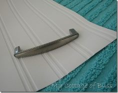 Beadboard wallpaper---love it--- without having to be a carpenter!