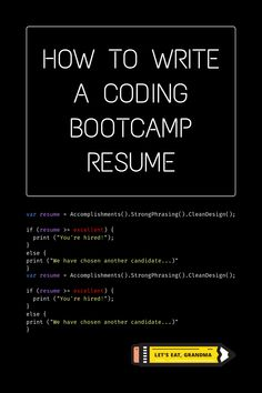 A coding bootcamp can be a great way to break into the tech world. But once you've graduated, how do you include it on your resume to convince people you're qualified? We have the guidance you need in this blog. Best Resume, Resume Tips, Resume Examples, Coding Bootcamp, Bootcamps, Computer Programming, Tech, Let It Be, Writing