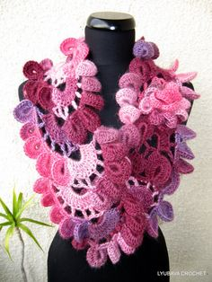 Crochet Pattern Multicolored Lyubava Scarf by LyubavaCrochet, $5.00