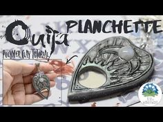 Ouija Planchette Pendant - Halloween Jewelry - Polymer Clay Tutorial with Stop Motion - YouTube