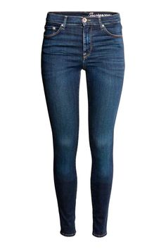 Shaping Skinny Regular Jeans - Donker denimblauw rugged rinse - DAMES | H&M NL