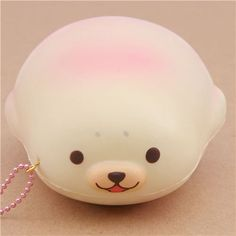 cute cream-pink mochi seal animal scented squishy by Puni Maru 1