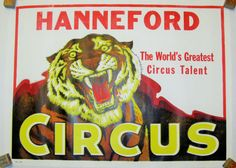 """Items similar to Vintage Circus Poster - Hanneford """"The World's Greatest Circus Talent"""" Circus Poster - Tiger on Etsy Vintage Circus Posters, Morris Costumes, Circus Circus, The World's Greatest, The Magicians, 1970s, Theatre, Old Things, Chinese"""