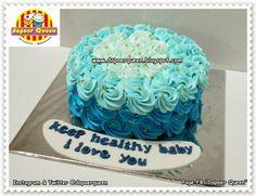 Dapoer Queen: Blue Ombre cake