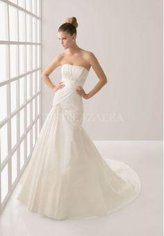 TAFFETA STRAPLESS MERMAID ELEGANT WEDDING DRESS $329