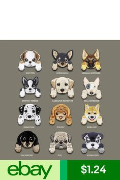 Shiba Chihuahua Cute Iron on Applique Backpack Decoration Clothing Dog Patch Iron On Embroidery, Cute Embroidery, Iron On Applique, Shiba Inu, Schnauzer, Shih Tzu, Boston Terrier, Labrador Retriever, Backpack Decoration
