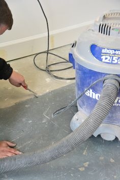 How To Install Laminate Flooring Over Concrete Laminate Flooring Basement, Installing Laminate Flooring, Vinyl Plank Flooring, Concrete, Home Appliances, House Appliances, Appliances