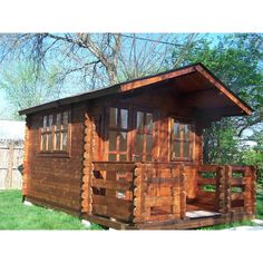 Found it at Wayfair - Wales 10 Ft. W x 10 Ft. D Solid Wood Garden Shed. Something similar (but cheaper) for down by the tree deck? Plastic Storage Sheds, Wooden Storage Sheds, Storage Shed Kits, Barn Storage, Small Storage, Garbage Shed, Porch Extension, Shed Landscaping, Landscaping Design