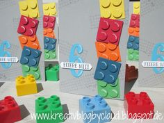 Kreativ Blog by Claudi: Lego-Einladungen