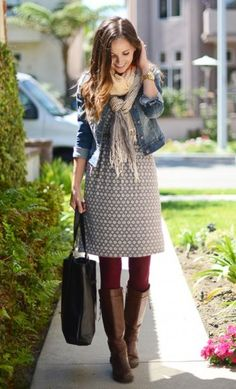 Take your summer dress into fall with a few accessories.