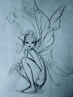 Drawing Doodles Sketches ✯ Artist Courtney Thomas ✯ More - Magical Creatures, Fantasy Creatures, Fantasy Kunst, Fantasy Art, Elves Fantasy, Fantasy Fairies, Elfen Tattoo, Fairy Drawings, Fairy Wings Drawing