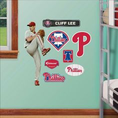 Cliff Lee Fathead Wall Graphic Junior Size by Fathead. $39.99. Fathead Jr. has all the fun action and reallife graphics of the Big Fathead Wall Graphics in a more spacefriendly size. Fathead Junior fits all kinds of spaces including doors, fridges, windows, tables, dorm rooms, etc. Kids can put them up and move them with ease. Fathead Junior makes a great complement to Fathead Big Wall Graphics.What Its Made Of: This Fathead Jr. Wall Graphic is a high definition image made of ...