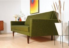 Bought this sofa in 1969 for our first home. Loved it.thought I was soooo cool! Make A Sofa Bed More Comfortable, How To Make Sofa Bed, Mid Century Chair, Mid Century Furniture, Furniture Styles, Home Furniture, Furniture Ideas, Modern Sleeper Sofa, Sleeper Sofas