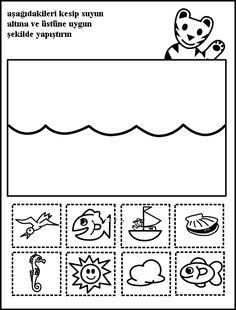 Altında üstünde Okuma Yazmaya Hazırlık - Okul Öncesi Turkish Language, Prepositions, Shining Star, Pre School, Preschool Activities, Montessori, Thinking Of You, Arts And Crafts, Album
