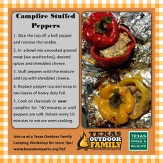 Another easy camping recipe from our Texas Outdoor Family rangers Camping Recipes, Camping Meals, Man Food, Ground Meat, Outdoor Cooking, Camps, Picnics, Food Hacks, Vacations