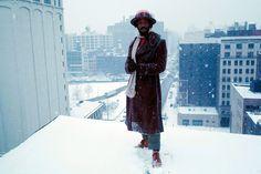 HORSEY IN SNOW, NEW YORK 1977. PHOTO © TED BAFALOUKOS