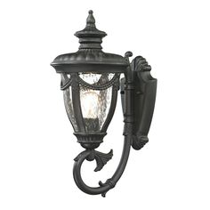 Anise 1 Light Outdoor Sconce In Textured Matte Black 45075/1