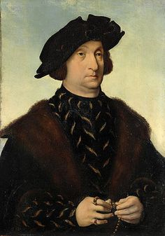 Joos van Cleve: Bildnis eines Mannes mit Barett und Schaube. Um 1520