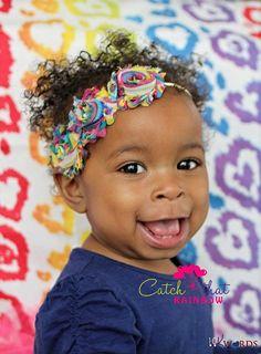 10% OFF Code.Rainbow headband baby girl by catchthatrainbow
