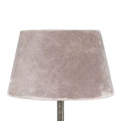 Lampskärm sammet rosa liten