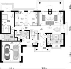 Projekt domu Willa Parkowa 4 165,77 m2 - koszt budowy - EXTRADOM Cute House, Good House, Dj Board, House Outside Design, Bungalow House Design, New House Plans, Design Case, Traditional House, Home Projects