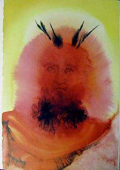 Salvador Dali (1904 - 1989) | Symbolism, Abstract Expressionism | Gloria vultus Moysi (Exodus 34:29) - 1964