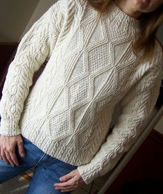 Worsted, 1550 yards, small.     Ravelry: Inishmore pattern by Alice Starmore