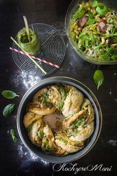 Rucola Pasta Salat + Pestobrotkranz