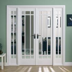 Choosing a French Door For Your Home Room Divider Headboard, Room Divider Shelves, Glass Room Divider, Living Room Divider, Room Dividers, Divider Cabinet, Wooden Patio Doors, French Doors Patio, Solid Doors