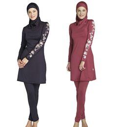 4c30e26691fa4 Full Coverage Modest Muslim Swimwear Islamic Swimsuit For Women Arab Beach  Wear Muslim Hijab Swimsuits Plus Size Good Quality-in Bikinis Set from  Sports ...