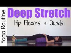 Hip Flexor Pain: 20 Minute Deep Stretch Yoga for Hip Flexors Quads. Yin Yoga, Yoga Restaurador, Yoga Flow, Hip Flexor Pain, Hip Flexor Exercises, Tight Hip Flexors, Hip Pain, Stretching Exercises, Knee Pain