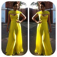 Bonang in a Yellow Dress by #GertJohanCoetzee