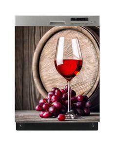 Naklejka na zmywarkę - Wino i winogrona 6528