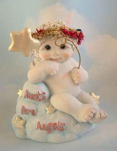 2000 Dreamsicles Angel Cherub on Cloud Aunts Are Angels