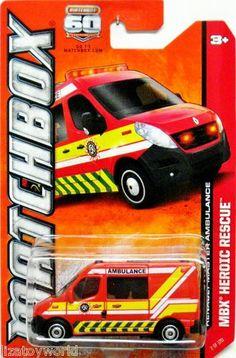 Matchbox 2013 Renault Master Ambulance 60th Anniversary #2/120 MBX Heroic Rescue
