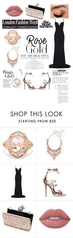 """Rose Gold"" by simdhaliwal07 ❤ liked on Polyvore featuring Effy Jewelry, Kendra Scott, STELLA McCARTNEY, Miss Selfridge, Lime Crime, Avon and Tiffany & Co."