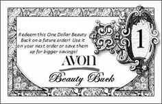 """Avon Bucks Fancy - $1"" Creative idea"