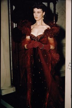 Vivien Leigh during the filming of Gone With the Wind