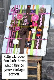 Cute lil way to organize all your bows & clips especially for a little girl!