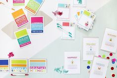 In the Studio: Ten Four Paper Birthday Coupons, Paper Goods, Coupon Codes, Coding, Studio, Colorful, Photography, Photograph, Fotografie