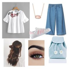 """Untitled #8"" by emilymcf on Polyvore featuring adidas, Sugar Thrillz and Kendra Scott"
