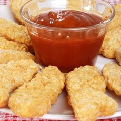 Chicken Fingers are a favorite food and can be eaten with a number of sauces.You can use Barbecue, Ranch, or here is a recipe for a nice Honey Mustard Sauce along with how to bake the chicken fingers.. Baked Chicken Fingers and Dipping Sauces Recipe from Grandmothers Kitchen.