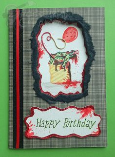 Handmade/Painted Horror Zombie Birthday Card by PossumPipCreations £7.99…