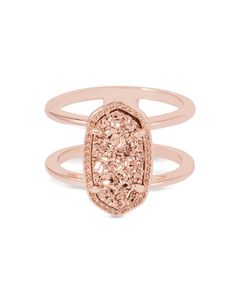 Elyse Ring in Rose Gold Drusy - Kendra Scott Jewelry.